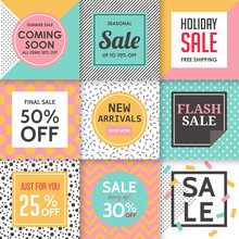 Modern Sale Banners Template For Social Media And Mobile Apps. C