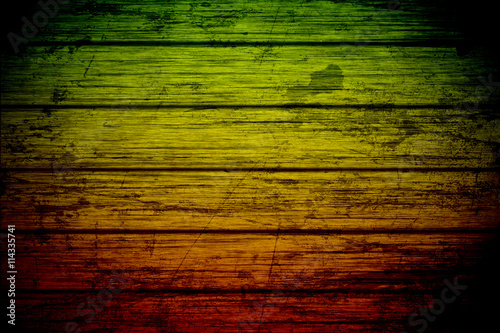 Obraz na plátně  grunge background reggae colors green, yellow, red