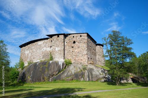 In de dag Noord Europa Medieval castle in Raseborg, sunny june day. Snappertuna, Finland