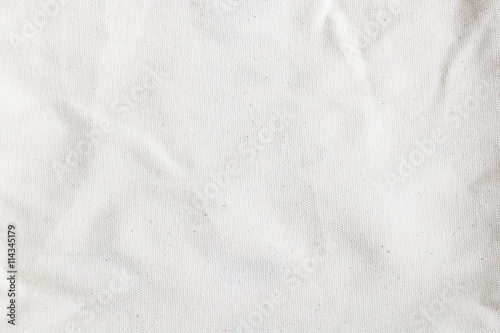 Aluminium Prints Fabric white canvas texture background