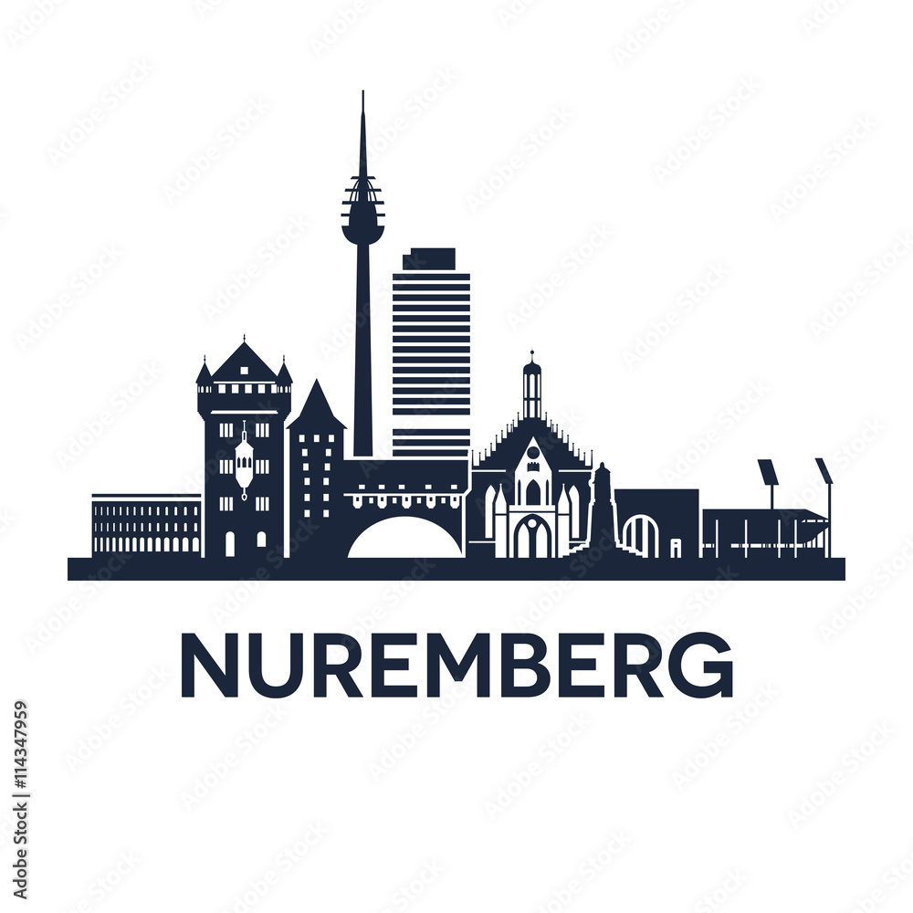 Photo & Art Print Nuremberg Skyline Emblem | EuroPosters