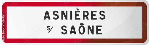 ASNIÈRES SUR SAÔNE : Commune de l'Ain - 01 - Auvergne-Rhône-Alp Wallpaper Mural