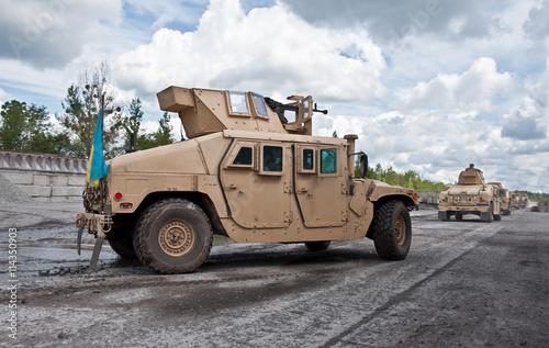 convoy of armored vehicle Ukrainian army