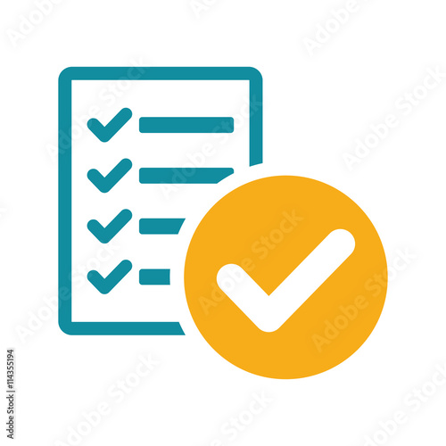 Fotografie, Obraz  success list blank icon flat color on white background