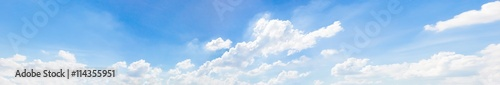 Canvas Prints Heaven Beautiful of blue sky and group of cloud. White cloud and blue sky. Blue sky background.Beautiful blue sky and white cloud represent the sky and cloud concept related idea. - Panorama Effect
