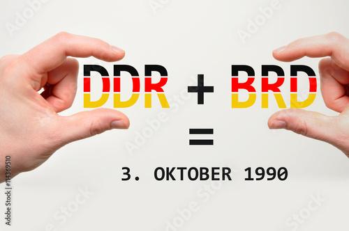 Fotografie, Obraz  DDR und BRD Tag der deutschen Einheit