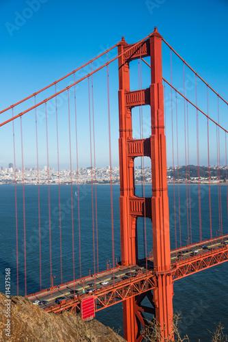 Poster Lieux connus d Amérique Golden Gate Bridge San Francisco - California