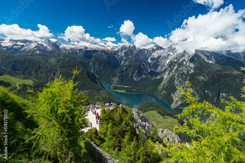 Wall Murals Northern Europe View from tof of Jenner mountain in the bavarian alps / Blick vom Gipfel des Jenner auf den Königssee