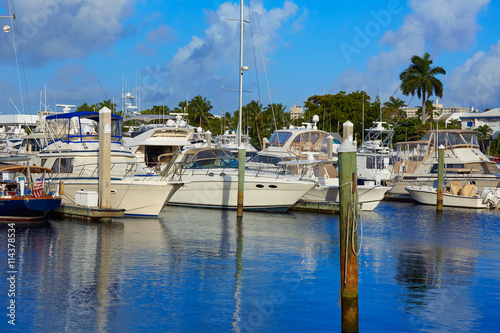 Spoed Foto op Canvas Canada Fort Lauderdale marina boats Florida US