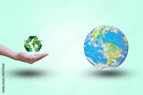 Hands opens up a world map double exposure green leaves the world hands opens up a world map double exposure green leaves the world on the background gumiabroncs Image collections