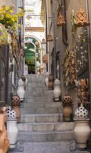 Old Street In Taormina, Sicily...