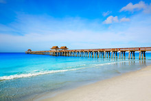 Naples Pier And Beach In Flori...