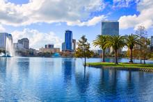 Orlando Skyline Fom Lake Eola Florida US