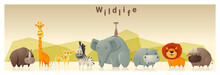 Wild Animal Background ,vector...