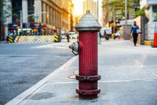 Old Red Fire Hydrant In New Yo...