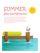 Enjoy Tropical Summer Holiday Background , Vector, Illustration