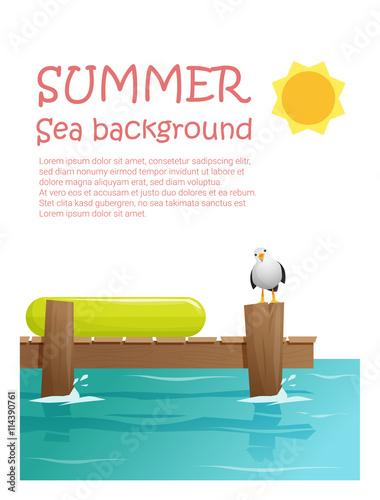 Carta da parati Enjoy tropical summer holiday background , vector, illustration