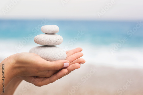 Photo  Concept of Relaxation and Balance
