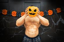 Halloween Bodybuilder With Pum...