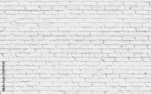 Photo sur Toile Brick wall White brick wall background