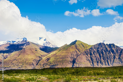 Deurstickers Poolcirkel Mountains and glaciers in Iceland