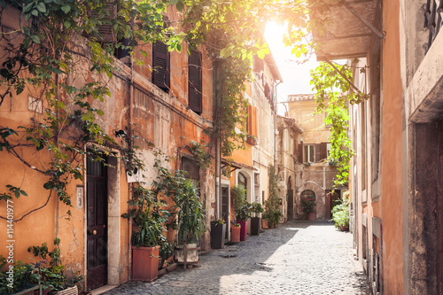 Foto op Plexiglas Rome A picturesque street in Rome, Italy