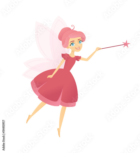 Pink fairy with her magic wand