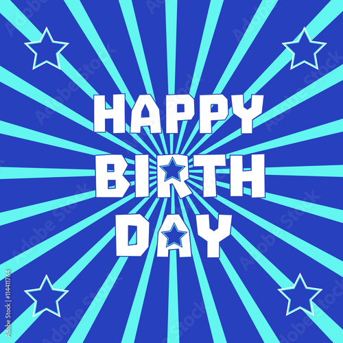 Happy Birthday Card Poster On Party Celebration Idea For Design Of