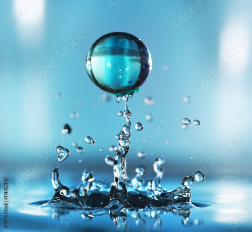 Water drop. Close-up\