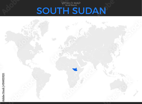 Republic of South Sudan Location Map - Buy this stock vector and ...