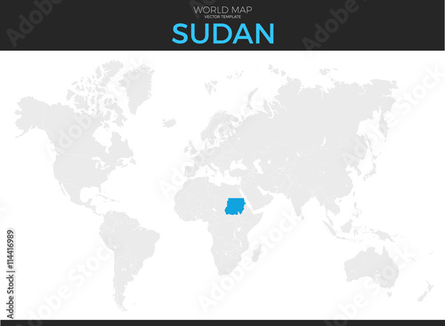 Republic of the Sudan Location Map - Buy this stock vector and ...