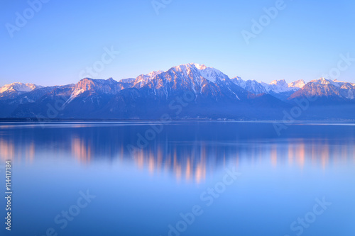 Photo Stands Lake Switzerland Landscape : Lake Geneva of Montreux