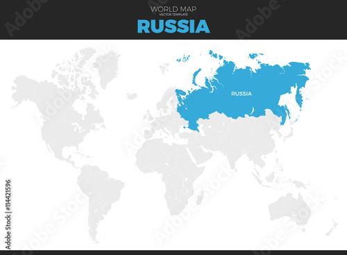 Russian Federation, Russia Location Map – kaufen Sie diese ...