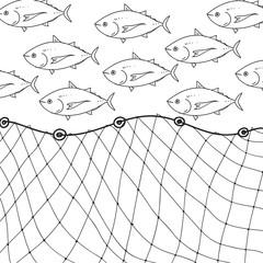 Fototapeta fishnet, vector