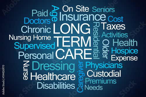 Fényképezés  Long Term Care Word Cloud