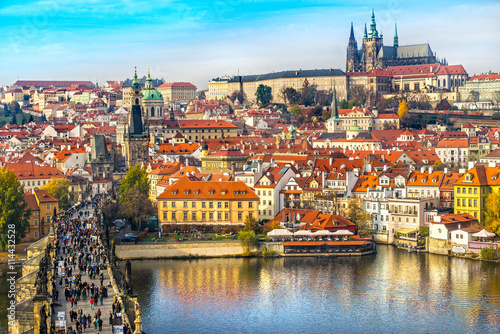 Prague, Charles Bridge and Mala Strana. Slika na platnu