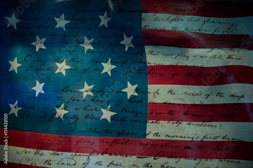 Usa America national anthem Star Spangled Banner Canvas Print