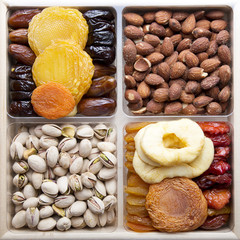 Fototapeta Owoce Dried Fruits and nuts