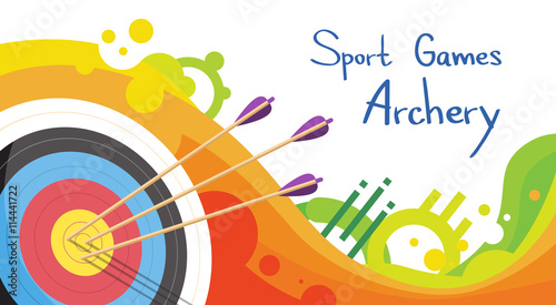 Archery Target With Arrows Archer Sport Game Competition Wallpaper Mural