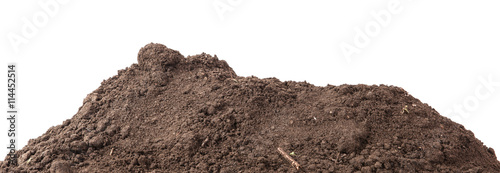 Stampa su Tela the soil for planting isolated on white background