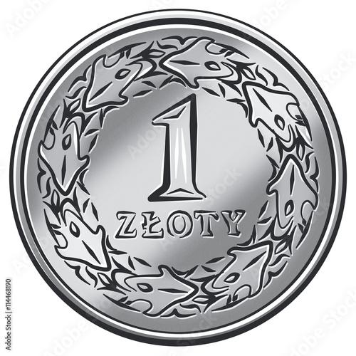 Fotografía  Złotówka, jeden złoty