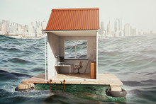 Floating House With Workplace