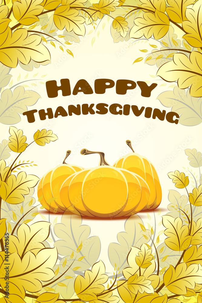 Leinwandbild Motiv - WaD : Happy Thanksgiving Day card