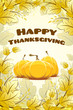 canvas print picture Happy Thanksgiving Day card