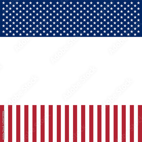 USA patriotic frame with empty space on center Wall mural