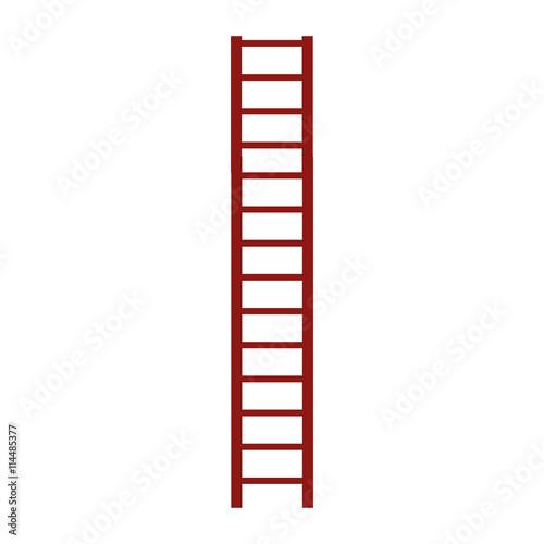 Foto op Plexiglas Trappen brown ladder icon