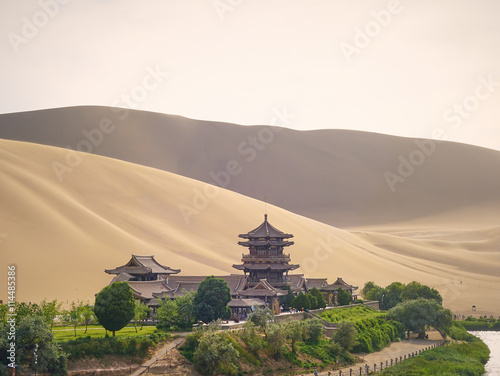 Crescent Moon Lake in Dunhuang on the Silk Road (Gansu Province, China) Canvas Print