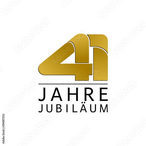 Fotografia  Einfach Gold Jubiläums Logo Jahre 41