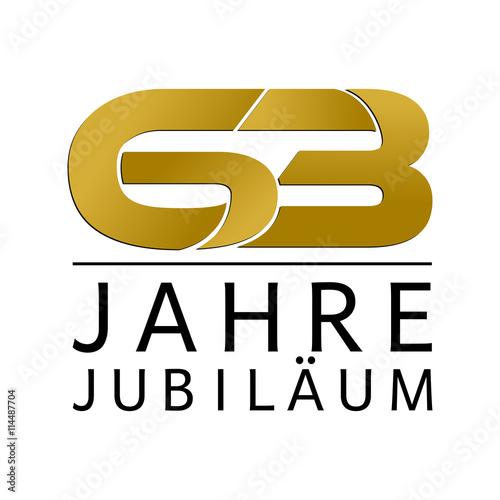 Fotografia  Einfach Gold Jubiläums Logo Jahre 63