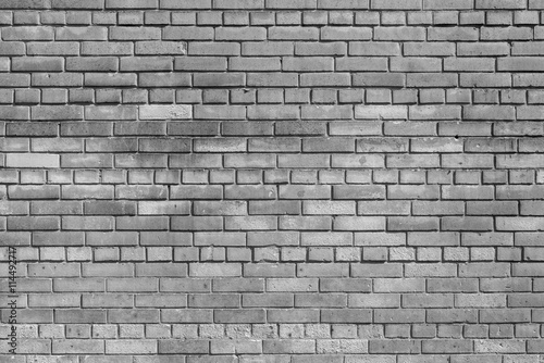 Garden Poster Brick wall brick textured background or wallpaper of monochrome gray color